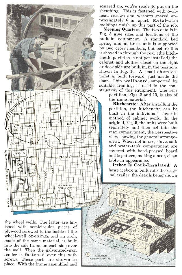 Truck Camper Plans Build Yourself: Vintage Teardrop Trailer Campers Chuck Wagon Plans: Midget