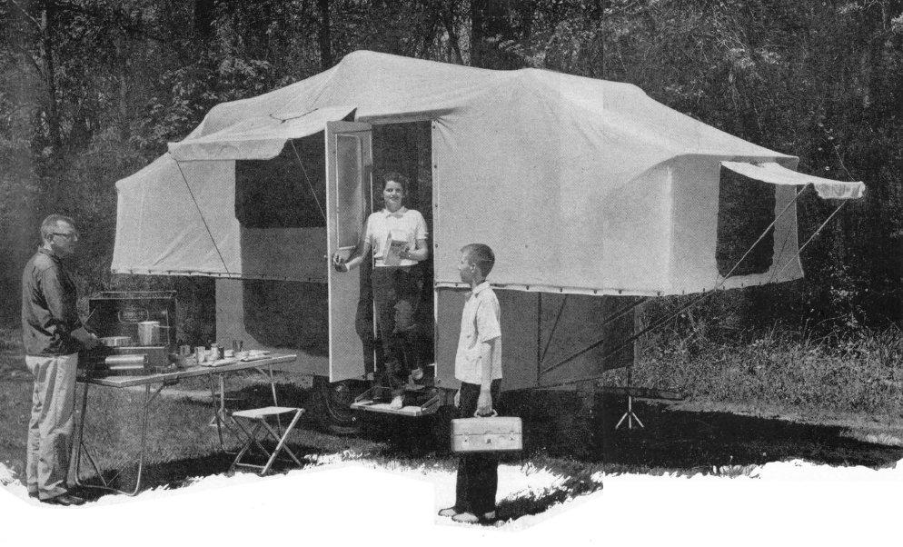Jack In The Box Pop Up Camper Vintage