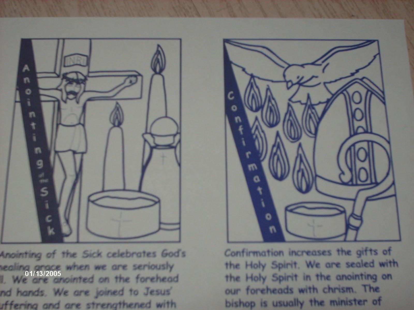 Dibujos Para Colorear De Los Sacramentos De La Iglesia Catolica