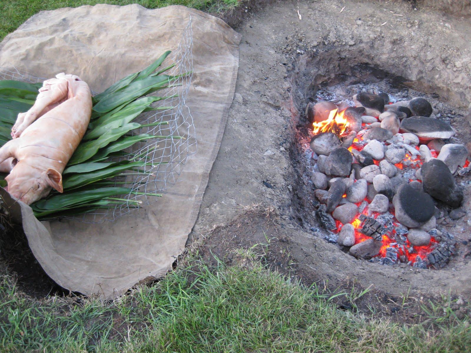 Lumsden FLorist etc.: Hawaiian Luau - How to Pit Roast a Pig