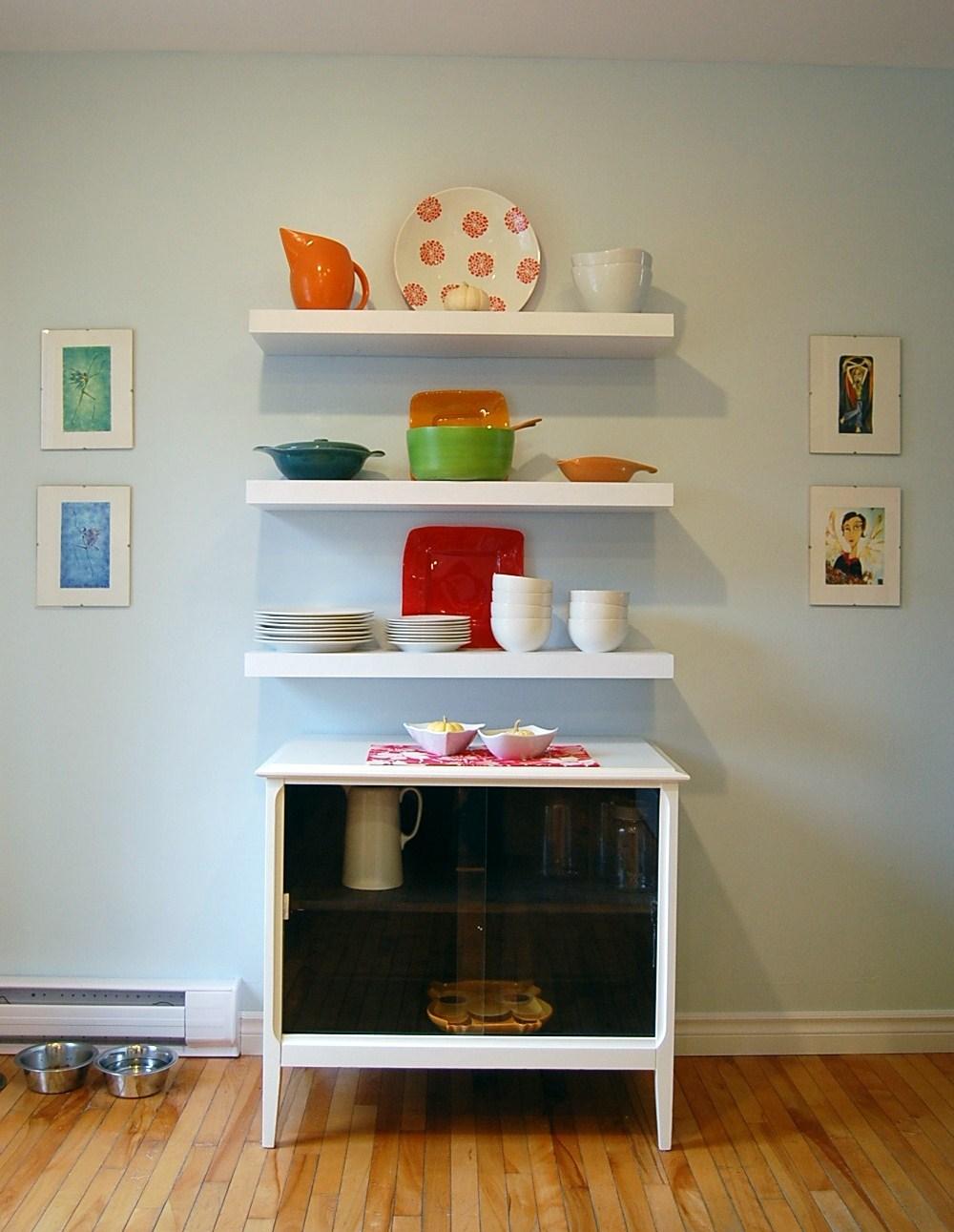 Floating Kitchen Shelves White