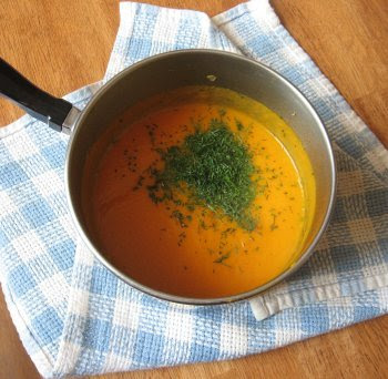 valentine's carrot soup