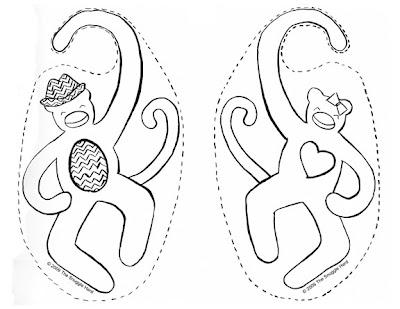 Crafty Mishmash: New Fun Freebie: Monkey Hangers