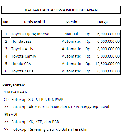 Top Rental Mobil Solo Rental Mobil Bulanan Bandung Kisharentcar Menyediakan