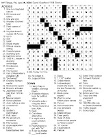 The New York Times Crossword in Gothic: January 2008