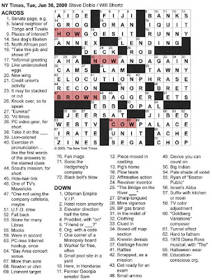 The New York Times Crossword in Gothic: June 2009