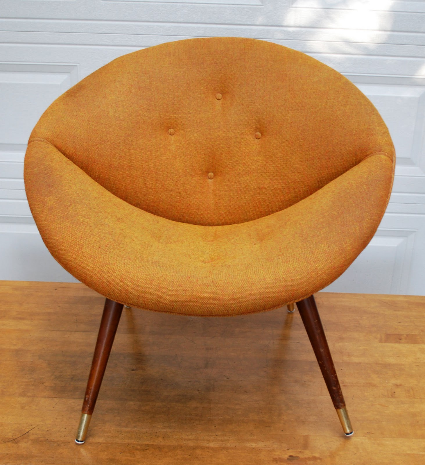 Junk2funk Vintage Orange Saucer Chair