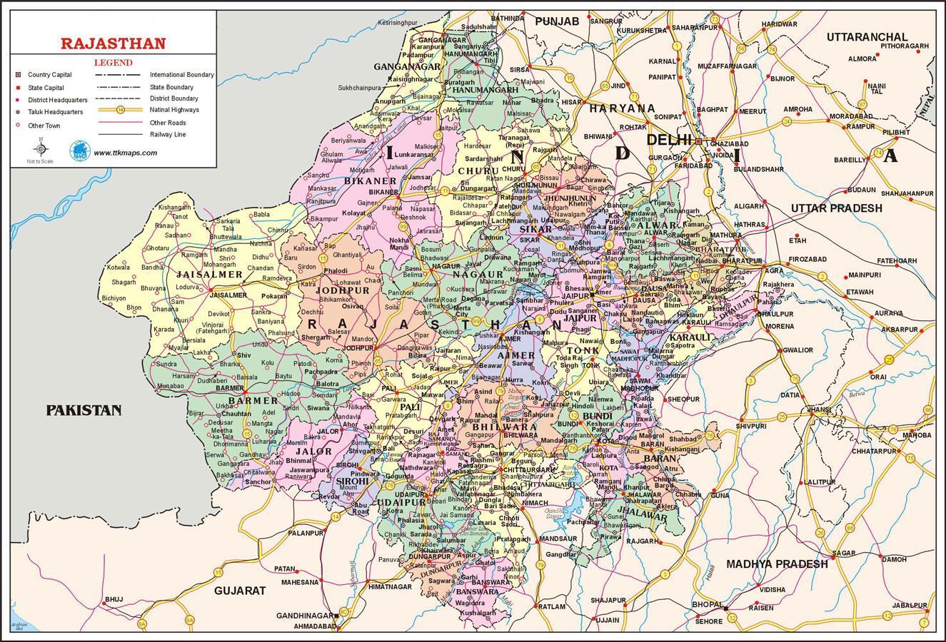 Rajasthan Road Map RAS EXAM 2013: Rajasthan Road Map AND Map of India Rajasthan Road Map