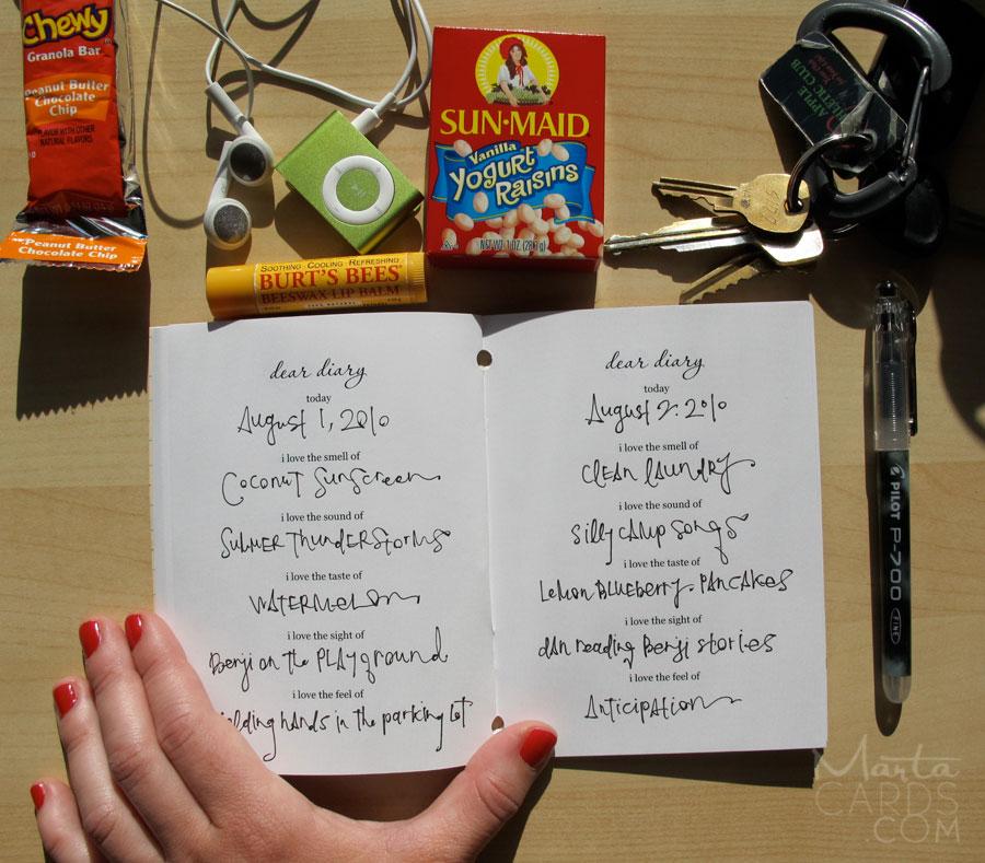 marta writes mini diaries have arrived