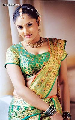 Ramya Divya Spandana Hot In Saree