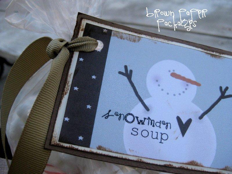 snowman soup} - The Girl Creative