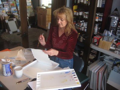 Becky Whitney at Roland Lee watercolor painting class