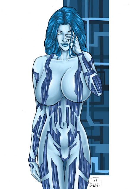 cortana drawing big breasts