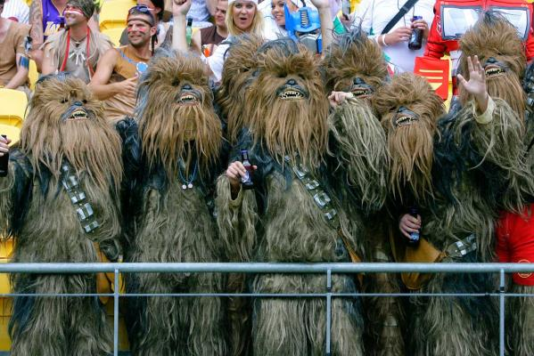 A whole group of Wookies at the sevens