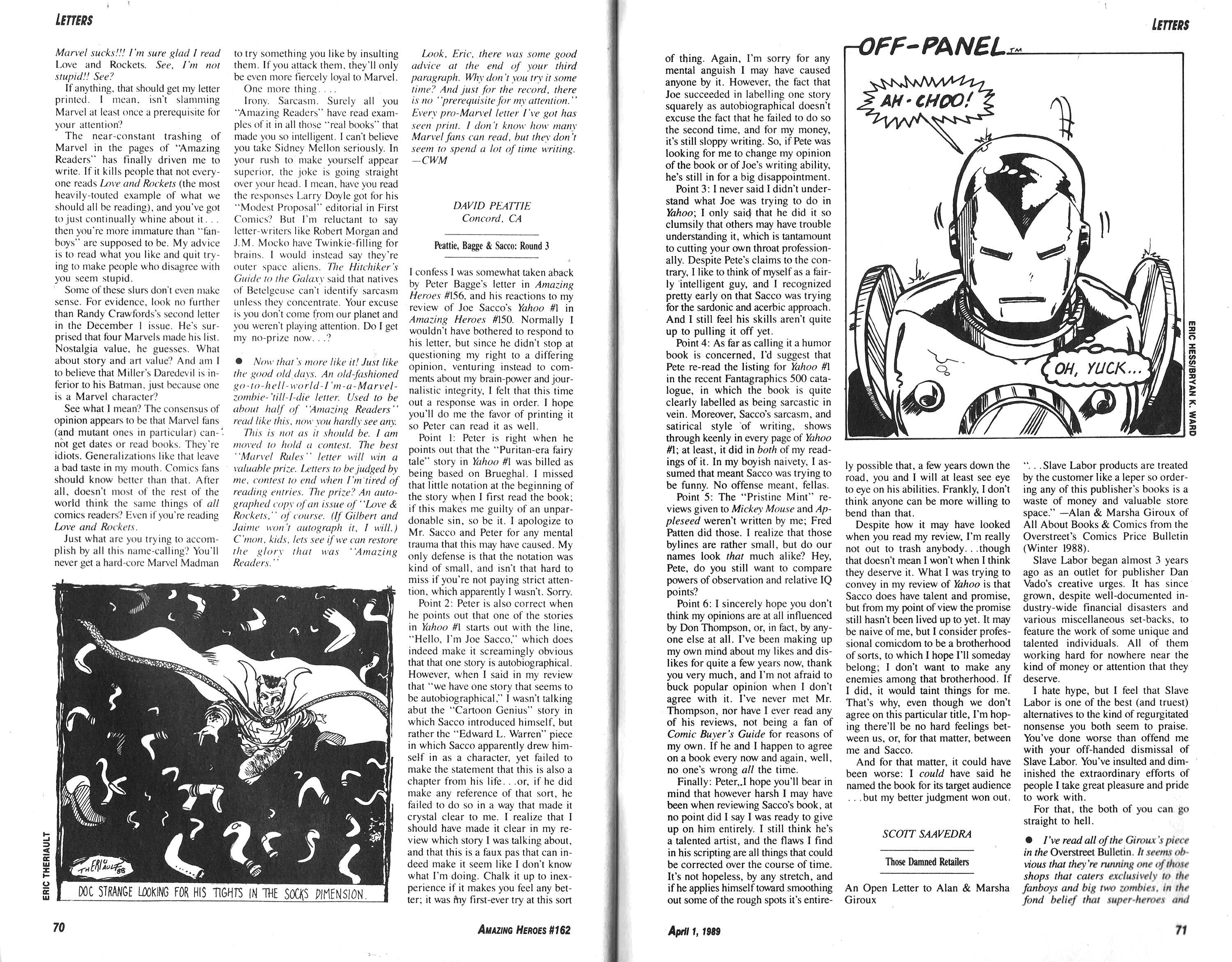 Read online Amazing Heroes comic -  Issue #162 - 36