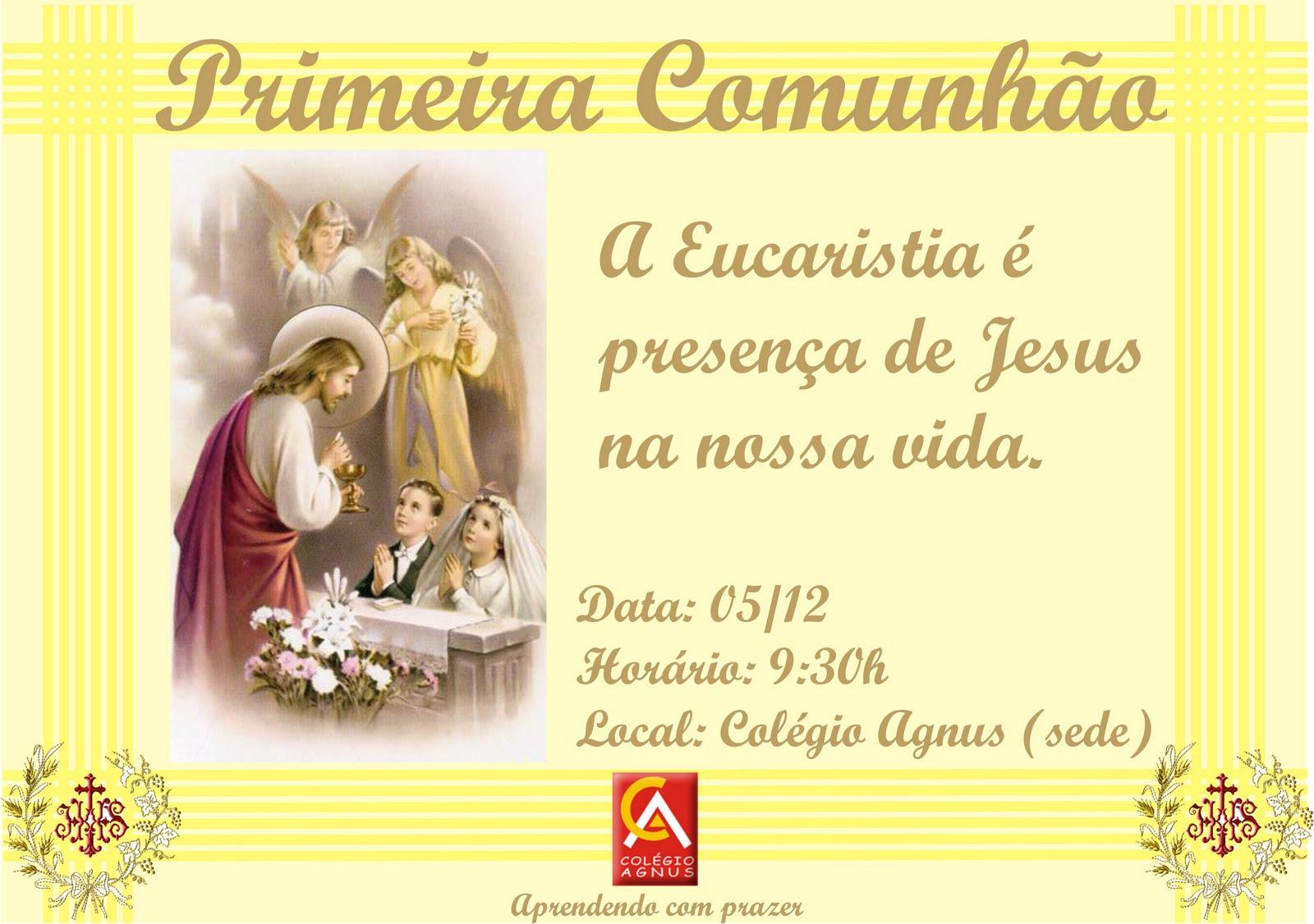 Frases Para Primeira Eucaristia Reflexão Da Mensagem E Da