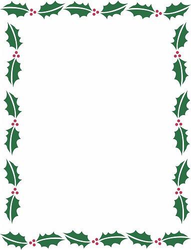 holly_christmas_border_background - Christmas Borders