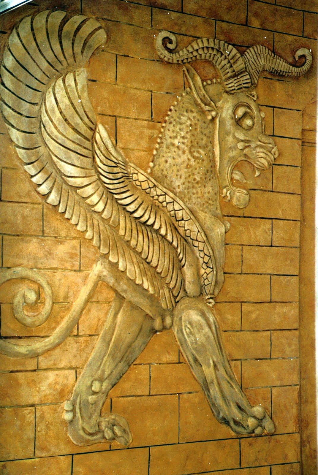 Relieves Grifo asirio