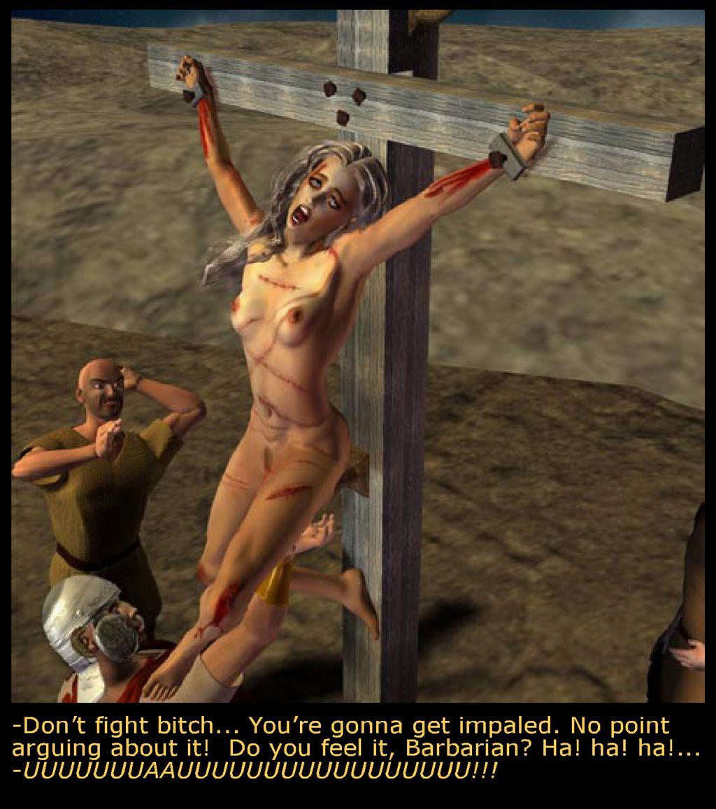 dark side female crucifixion