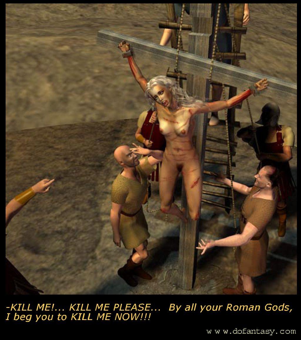 terrible crucifixion scene