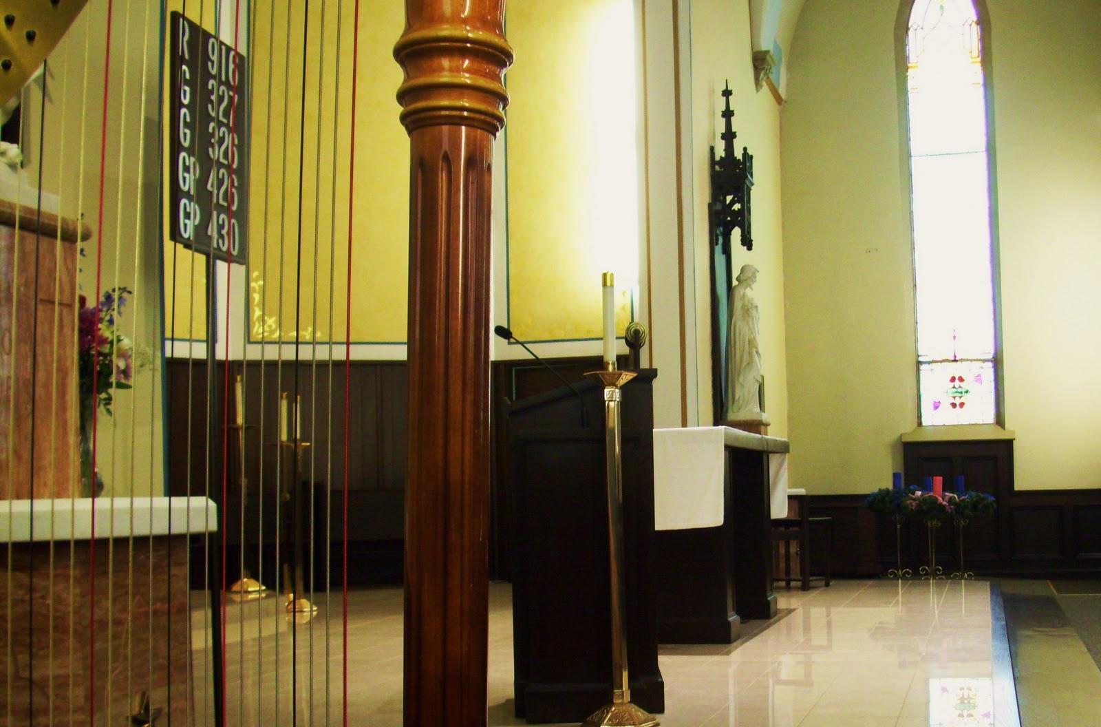 Southwest Michigan Wedding Harpist ~ St  Mary's Catholic