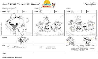 storyboard samples: Ni Hao Kai Lan