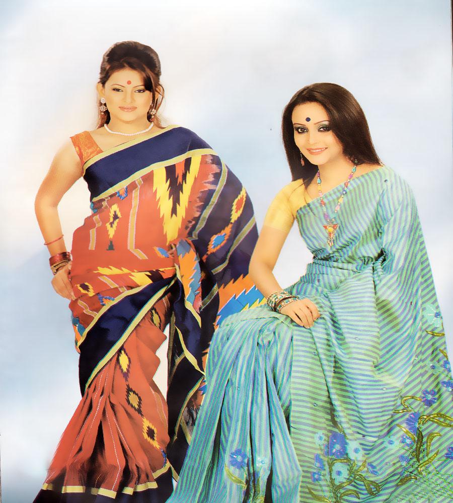 Fashion Celebrity Bancaan Banglar Sharee Fashion-1806