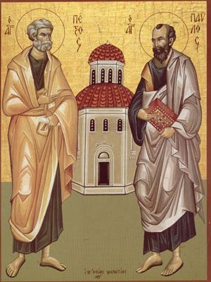Sfintii Apostoli Petru si Pavel | iconografis  |Sf. Petru Si Pavel