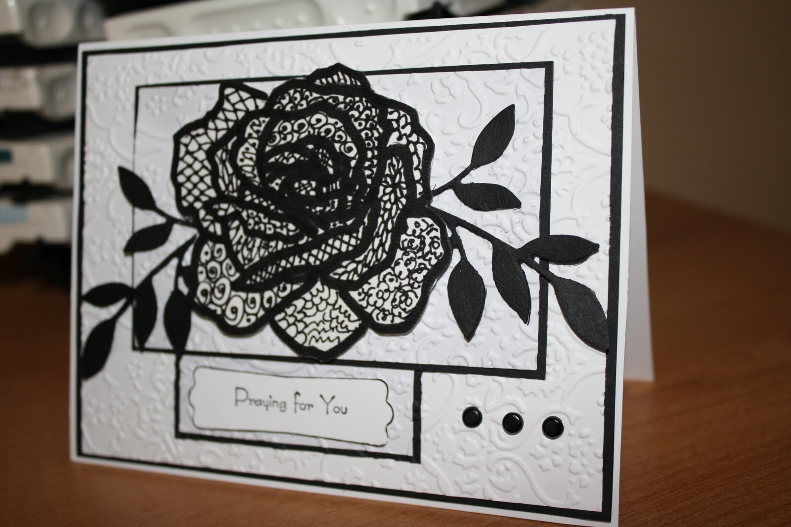 Stamping And Creating Soft Rose Zentangle Rose