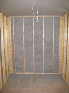 Spray In Place Cellulose Insulation Home Construction