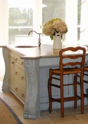 Kitchen and bath design kitchen island ideas - Kitchen island with post ...