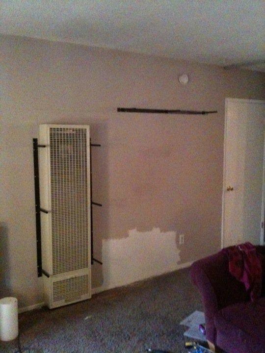 Wall Heater Cover/Bookshelves