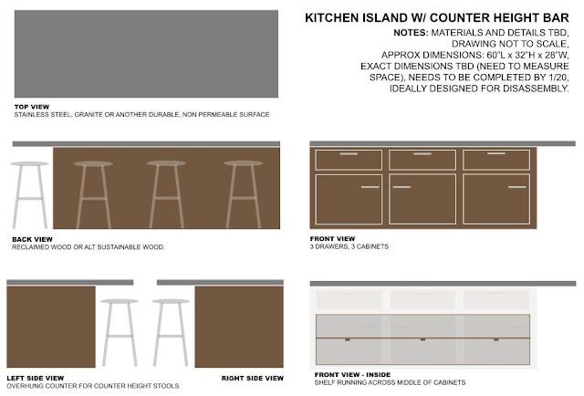 Kitchen Countertop Desk Organizer  Long