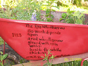 My Red Wheelbarrow---