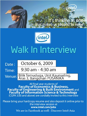 INTEL Walk in Interview