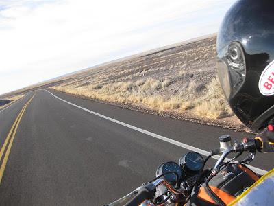 riding through the petrified forest, driving
