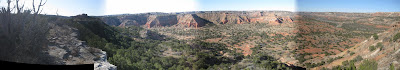 panorama, palo duro canyon, texas, colored rocks