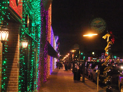 downtown rochester, michigan, holiday lights, christmas, festival