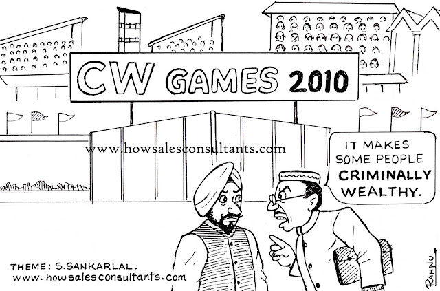 Sankarlal's Cartoons: Commonwealth Games