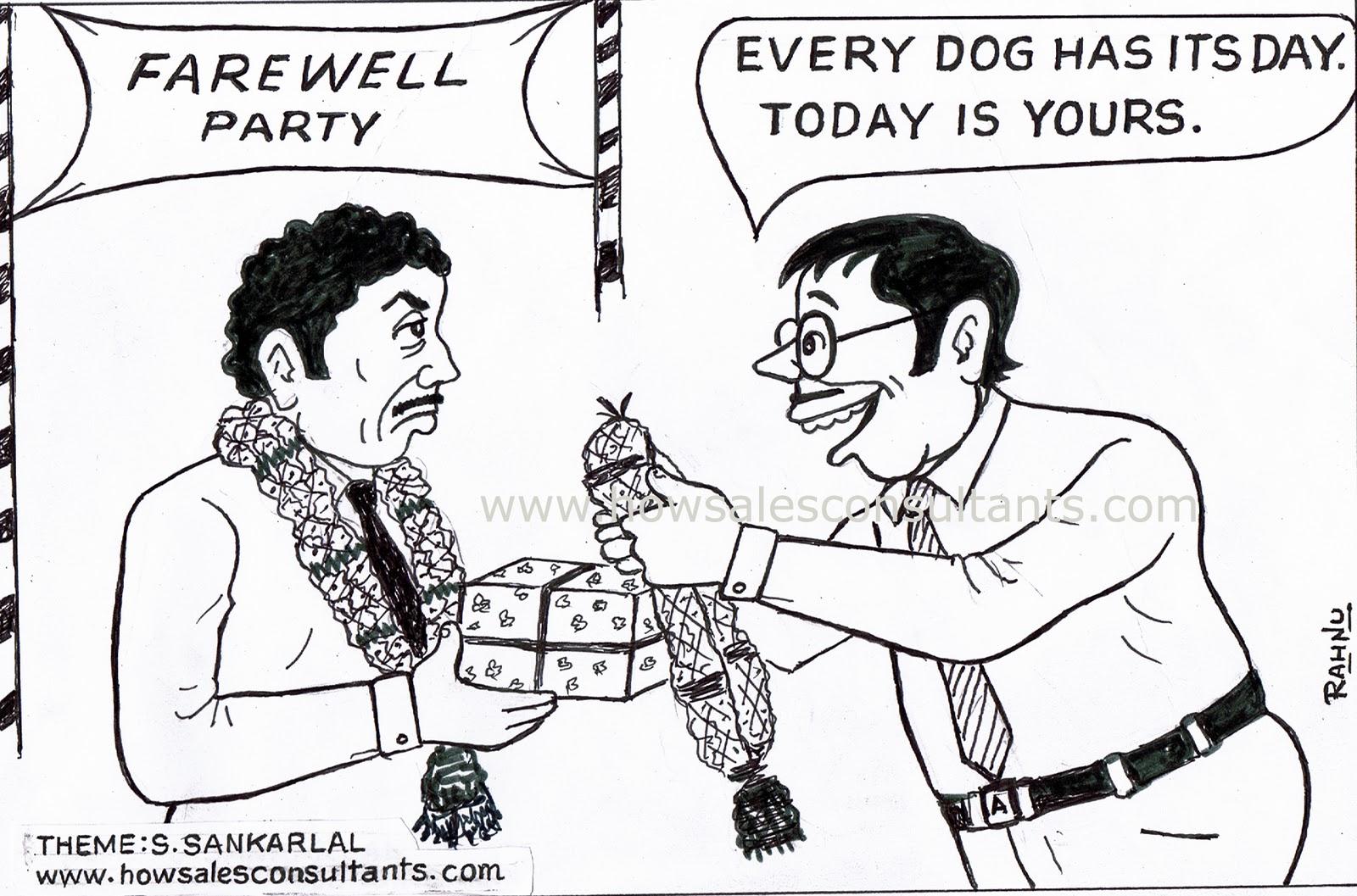 Sankarlal S Cartoons Farewell Party