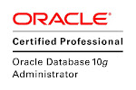 CERTIFICATIONS   ORACLE 9i,10g,11g OCP,RAC CERTIFIED EXPERT,SOA EXPERT & ORACLE EBS R12 OCP