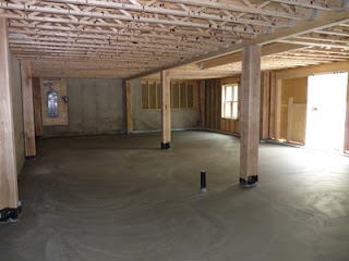 Timber Frame House Build Basement Floor
