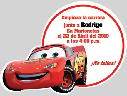 Tarjetas De Cumpleaños Para Editar De Cars Imagui
