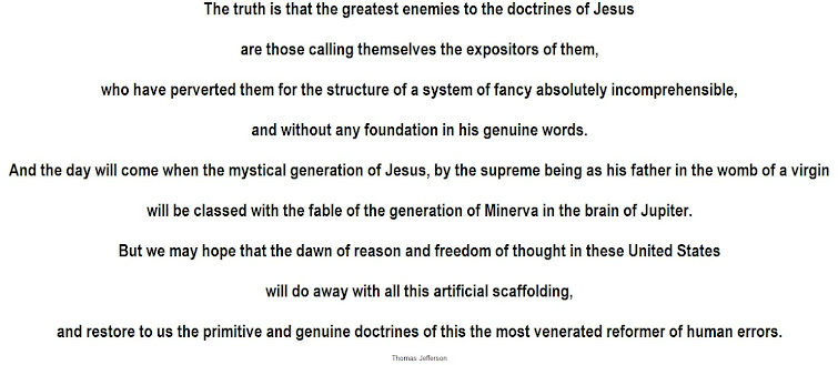 The truth of Thomas Jefferson - priests are the greatest enemies