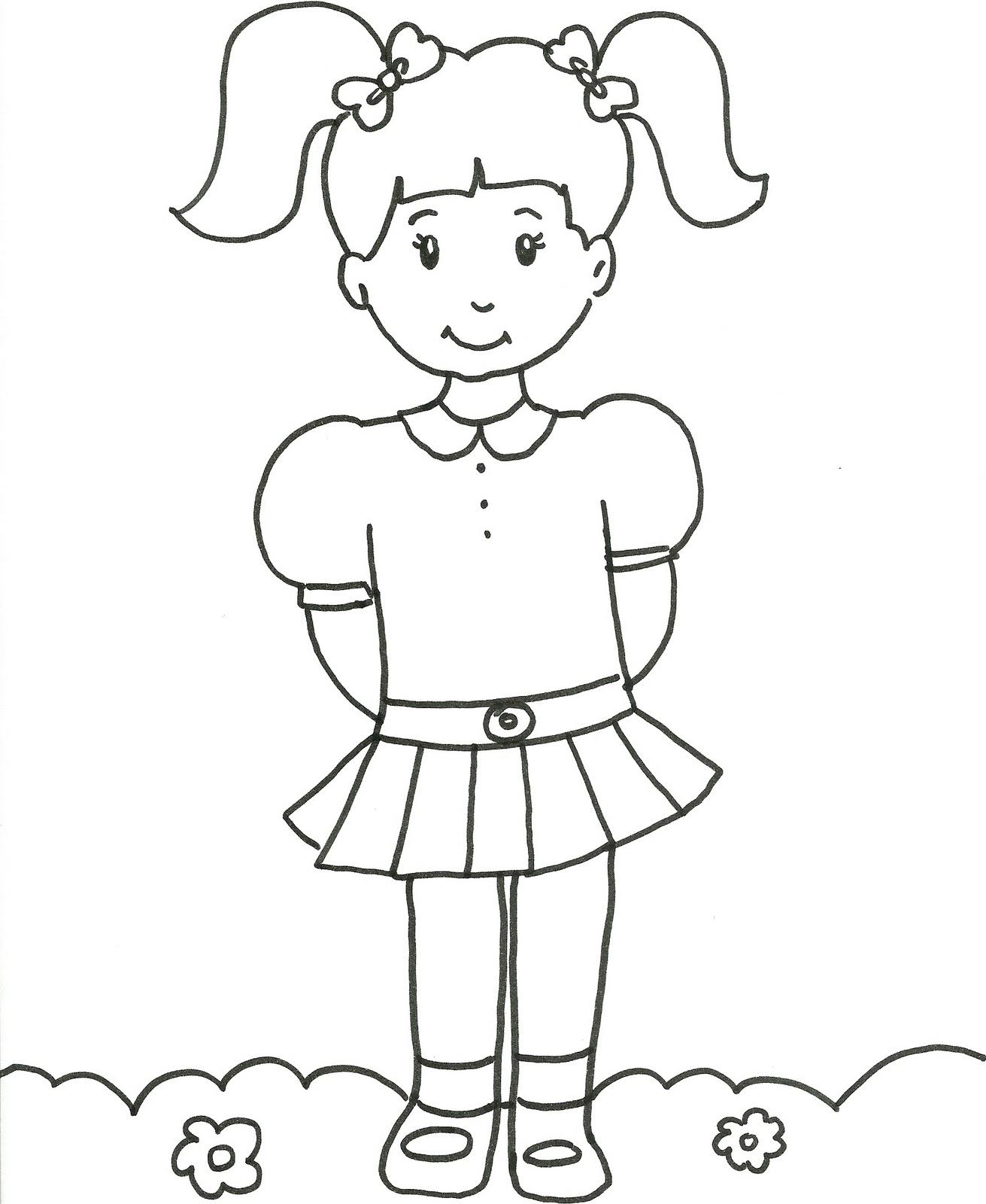 imagens faceis e de meninas colorir