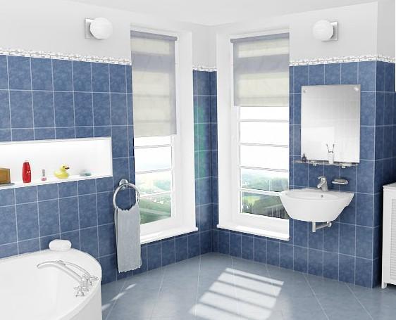 Fotos de ba os modernos marmolizados coloridos decoraci n - Fotos de azulejos para banos ...