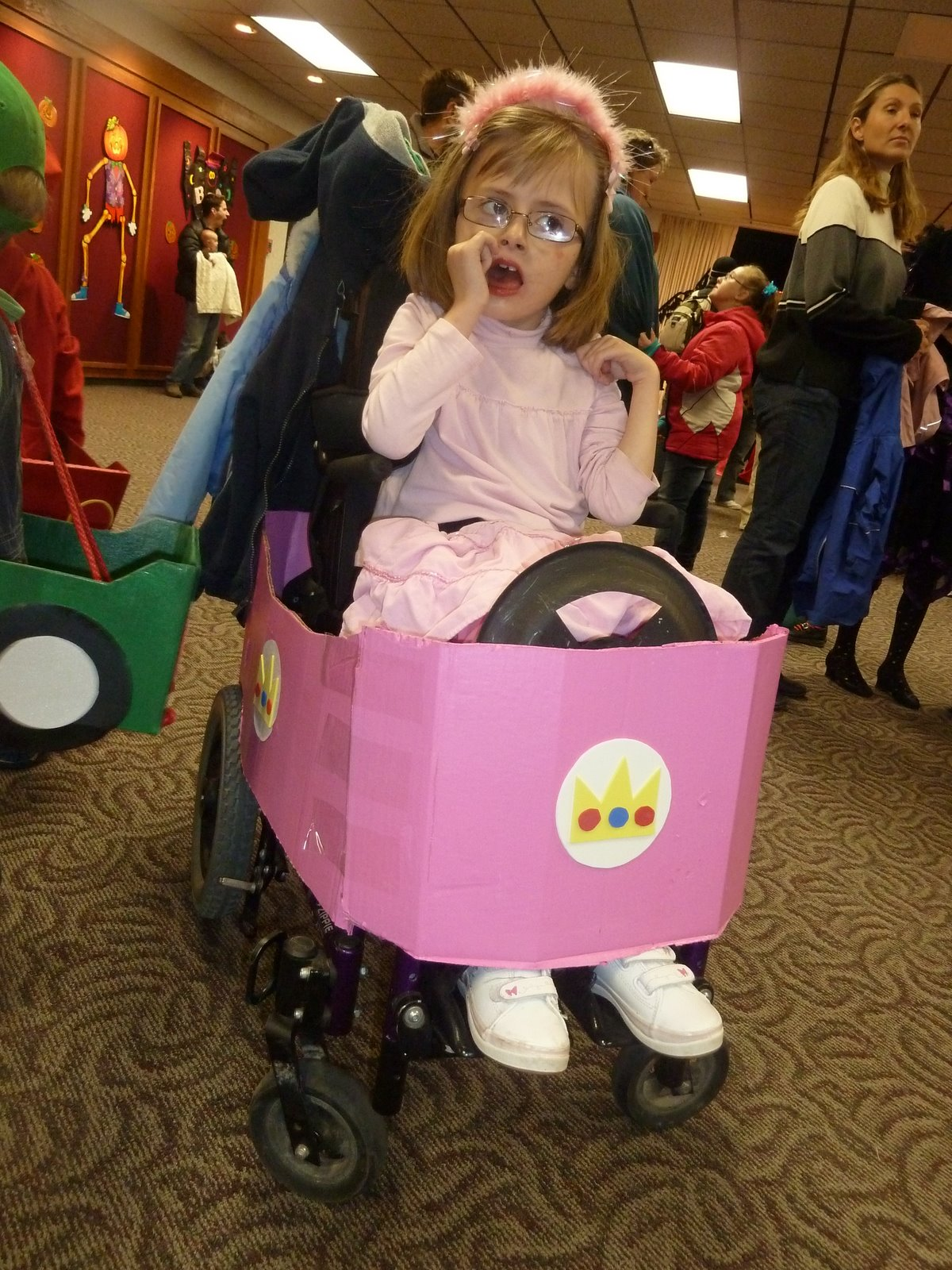 wheelchair mario slip covered chairs simple but great halloween kart style