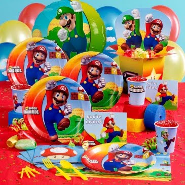 Birthday Express Super Mario Bros Party Supplies Review Giveaway