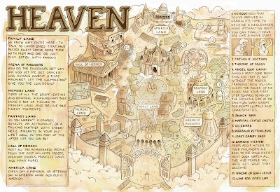 The Map Of Heaven MALACHI WARD: Map of Heaven Print