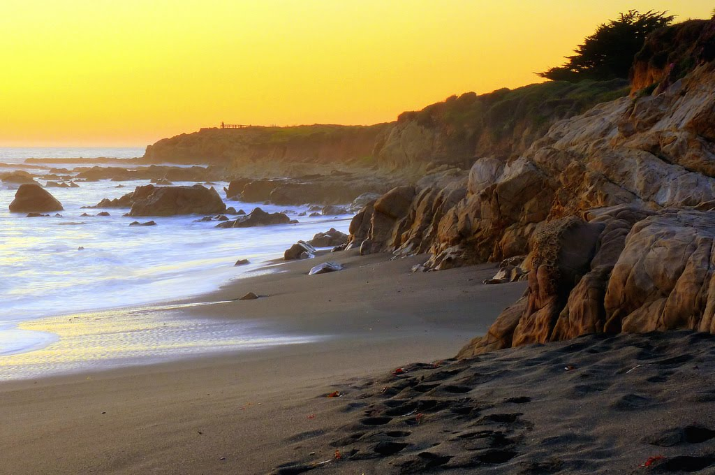 Moonstone Beach At Sunset
